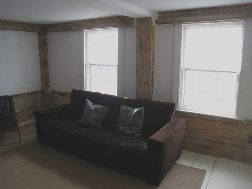 Front of Room: wood stripped
