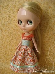orange Fairy Tale dress