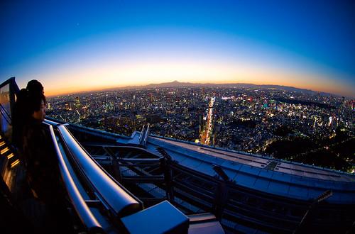 Tokyo sunset over Fuji 13