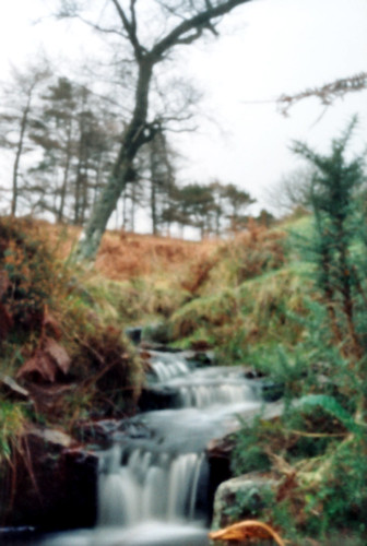Fairlie moor burn 35mm film pinhole image 17Dec08