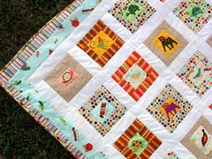quilt top c close-up with borders and binding