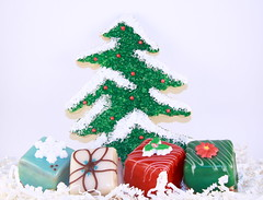 Large Christmas Tree and Petit Fours Gifts