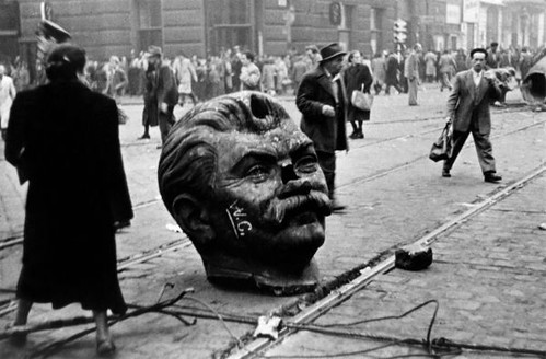 Stalin statue destroyed during Hungarian uprising.php by you.