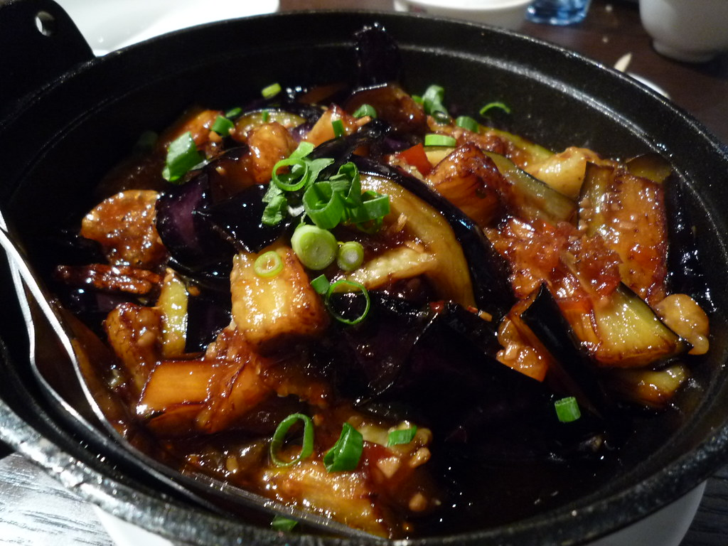 Eggplant in claypot with Szechuan sauce