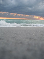 It's days like today that I feel so lucky to live in Florida. (My Older Photography ABP) Tags: pink blue light sunset sky orange sun beach water colors clouds amazing waves bright florida refreshing