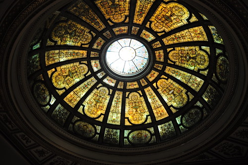 I havent even mentioned the inside parts of the tour that showed me grand staircases, a city model and this Tiffany dome.