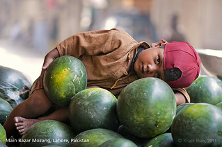 Small watermelon seller