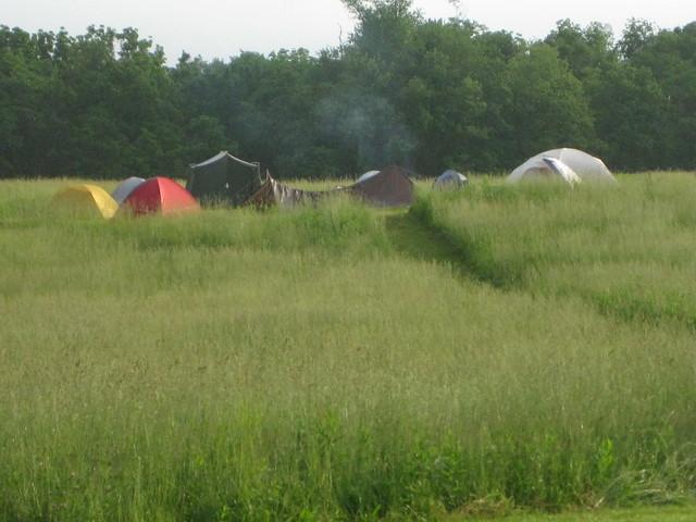 a tent village