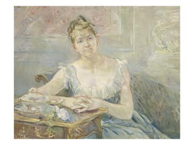Berthe Morisot - Portrait de Louise Riesener
