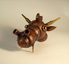 Large Wood Steampunk Robot Dragon Head Ruby Eyes 3 (Builders Studio) Tags: castle saint fire arthur george king dragon head medieval steam lizard copper knight horn ruby camelot breathing