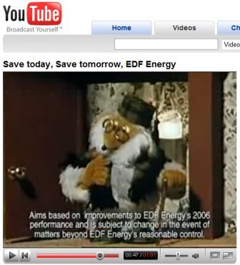 EDF's YouTube ad - Save Today, Save Tomorrow