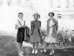 Mom 1938 (kevin63) Tags: girls littledebbyhat capitol westvirginia lightner charleston 1930s shelby penmanshipcontest photoshop repair hats lawn tulips betty mother homesewn homemade