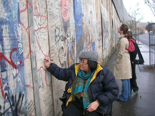 writing on the peace wall