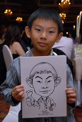 Caricature live sketching for wedding dinner9