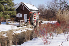 KIMBERTON MILL IN WINTER (wybenner) Tags: winter snow mill water buildings landscape countryside scenic foliage waterwheel absolutelystunningscapes
