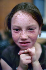 freckle girl (dogwelder) Tags: california school portrait girl face kids work 35mm head freckles zurbulon6 balboa northridge shotonfilm zurbulon gatturphy olympusom4