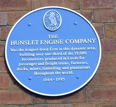 Photo of Hunslet Engine Company blue plaque
