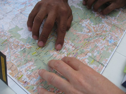 Tracing our trekking route