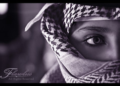 ~'~ Tales of Arabia .. (Flawless ) Tags: bw beautiful canon kid eyes character pride arab arabian tale flawless 400d