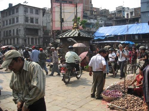 Street scene in old Kathmandu