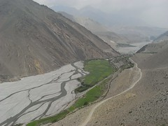 The windy valley between Kagbeni and Jomsom