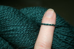 green merino 2 ply detail