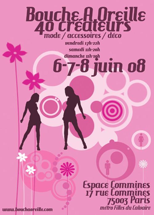 Flyer Salon Bouche à Oreille, Juin 2008