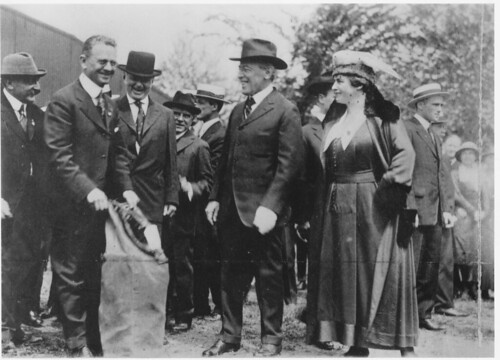 President Wilson at First Regularly Scheduled Airmail Service Ceremony