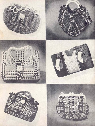 Bags made from handheld loom squares
