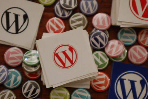 WordPress Schwag by whiteafrican, on Flickr