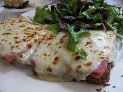 Bistro 110: Croque monsieur (close up)