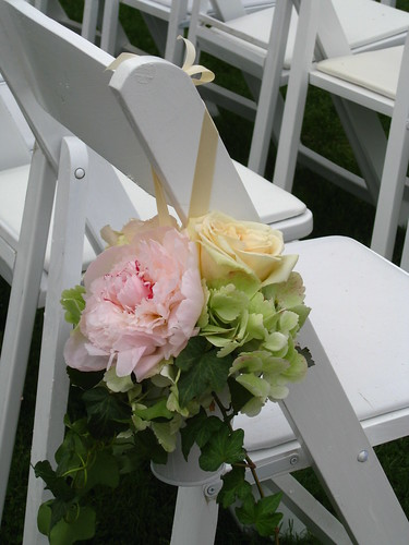 Wedding - aisle decoration, Wedding flowers decoration. wedding ceremony white galvanized bucket. Peony, blush roses, wedding invitation, flowers, photos