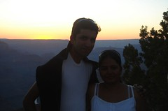 together @ sunset (almightyamar) Tags: grandcanyon susi amaresh