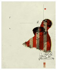 The two lines (pemorama!) Tags: red 2 two baby lines collage digital photoshop vintage rojo stripes retro if arrow twolines pemo queironia