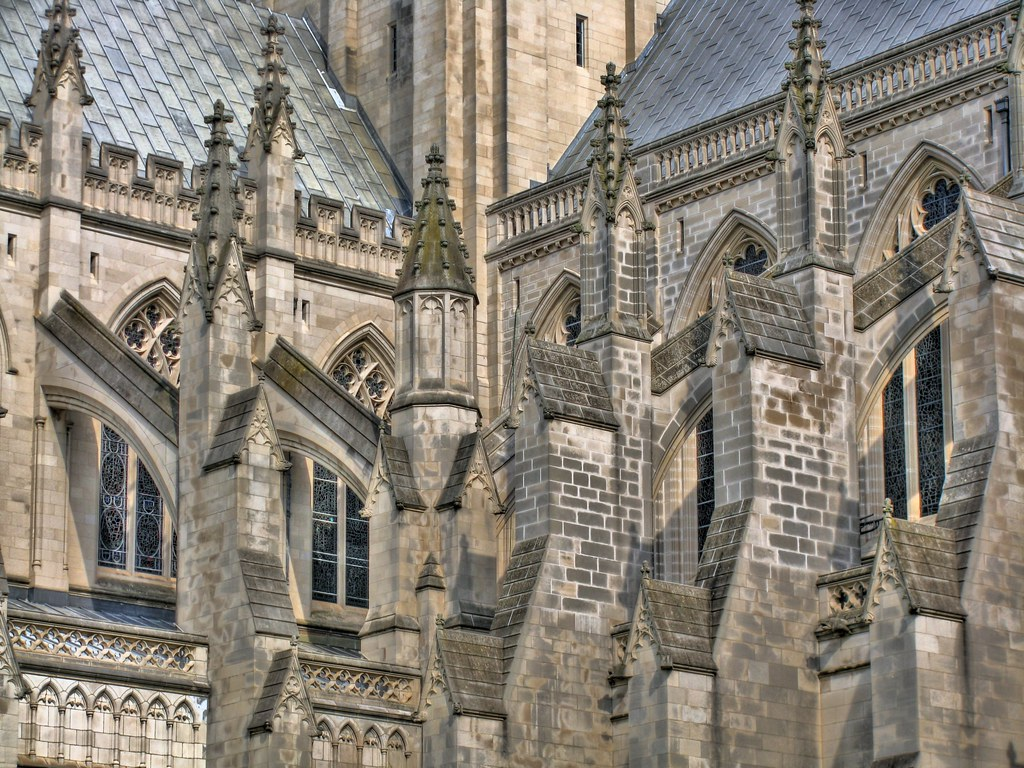 Flying Buttresses Adorn the Washington National Cathedral