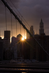 From the Brooklyn Bridge: Summer Sunset