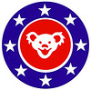 Grateful Dead Dancing Bear U.S. Flag