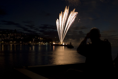 Fireworks over Lake Union