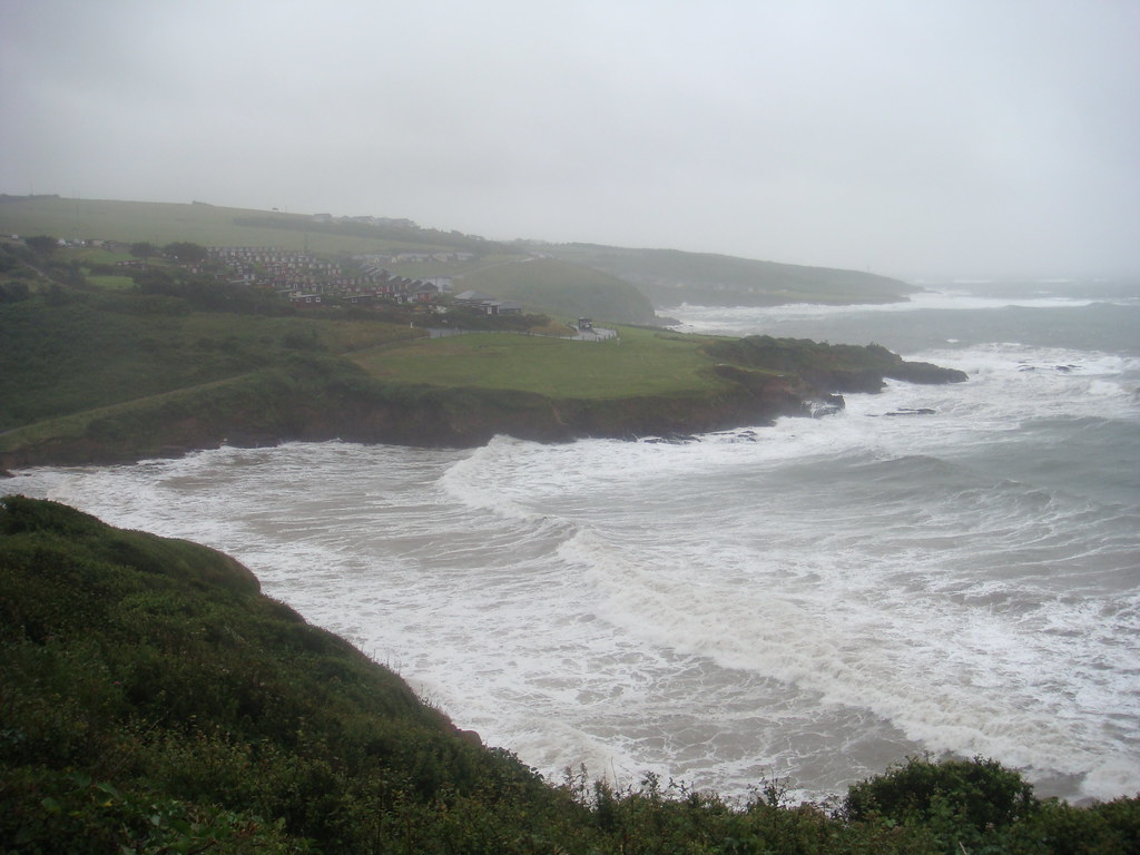 Bovisand Beach on stormy July 5th
