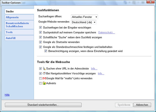 Toolbar IE 5 deutsch