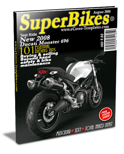 ezine cover action template- superbikes