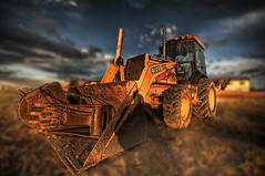 Deere 3-D (kind of) (iceman9294) Tags: tractor construction shovel loader backhoe hdr deere digger johndeere