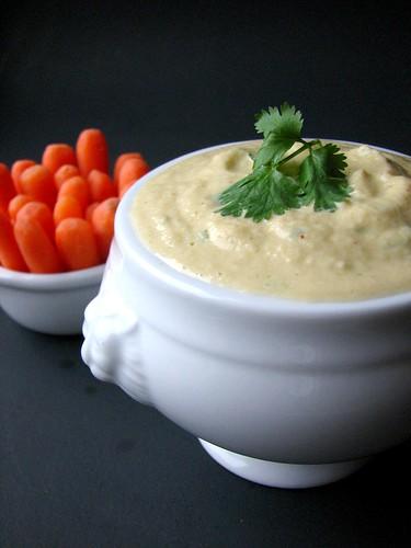 Cilantro Zucchini Hummus