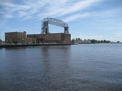 Canal Park Bridge and Lake Superior