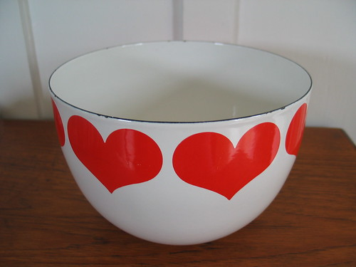 Enamel Arabia Heart Bowl  by Peacock Modern.