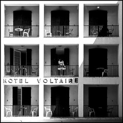 9 balconies (new version) (Frederic-JG) Tags: bw france building balcony buildingdetail abstraction arles squarepicture fineartphotos fredericjg fredericblanque fredericjgcom urbanpov