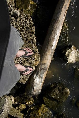 Josh feet, camping
