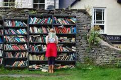 #158 (evilibby) Tags: girl wardroberemix books bookstore human libby 365 bookshop hayonwye bookstores libreria redskirt haycastle 365days librerias booksathaycastle honestybookshop