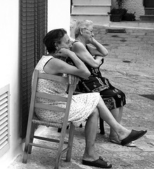 Without words (_Blaster_) Tags: street bw italy chair women strada italia fuji monochromatic tent f30 silence finepix older sedia salento puglia noia biancoenero tenda blaster attesa silenzio oria monocromatico olderwomen chianche fujif30 aplusphoto goldenvisions