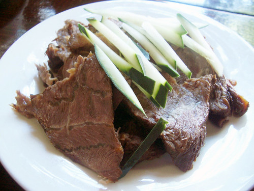 sliced beef marinate @ M Shanghai Bistro